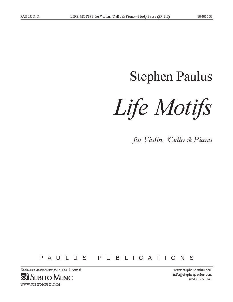 Life Motifs for Violin, Violoncello & Piano