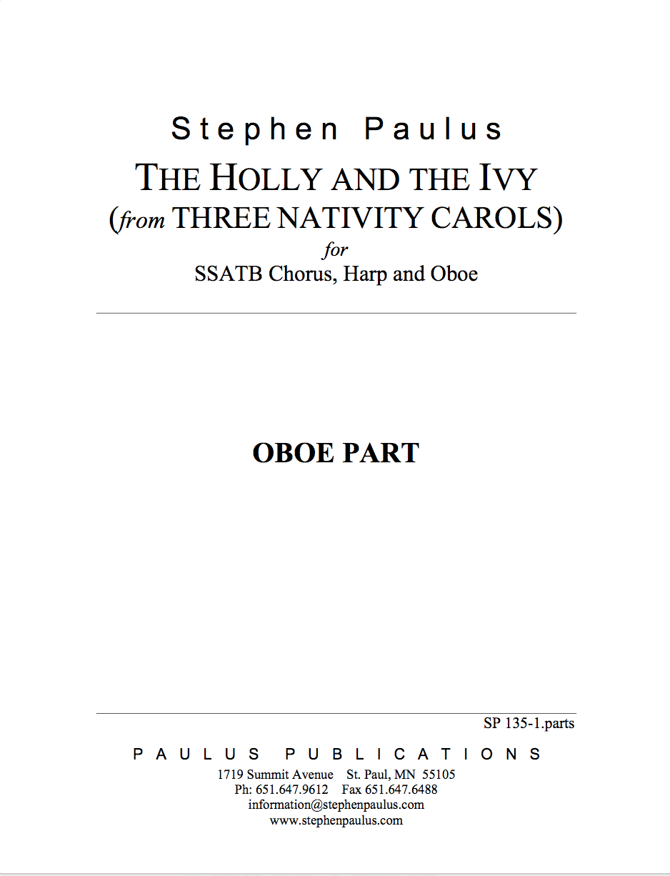 Holly and the Ivy, The (THREE NATIVITY CAROLS) Set of Parts