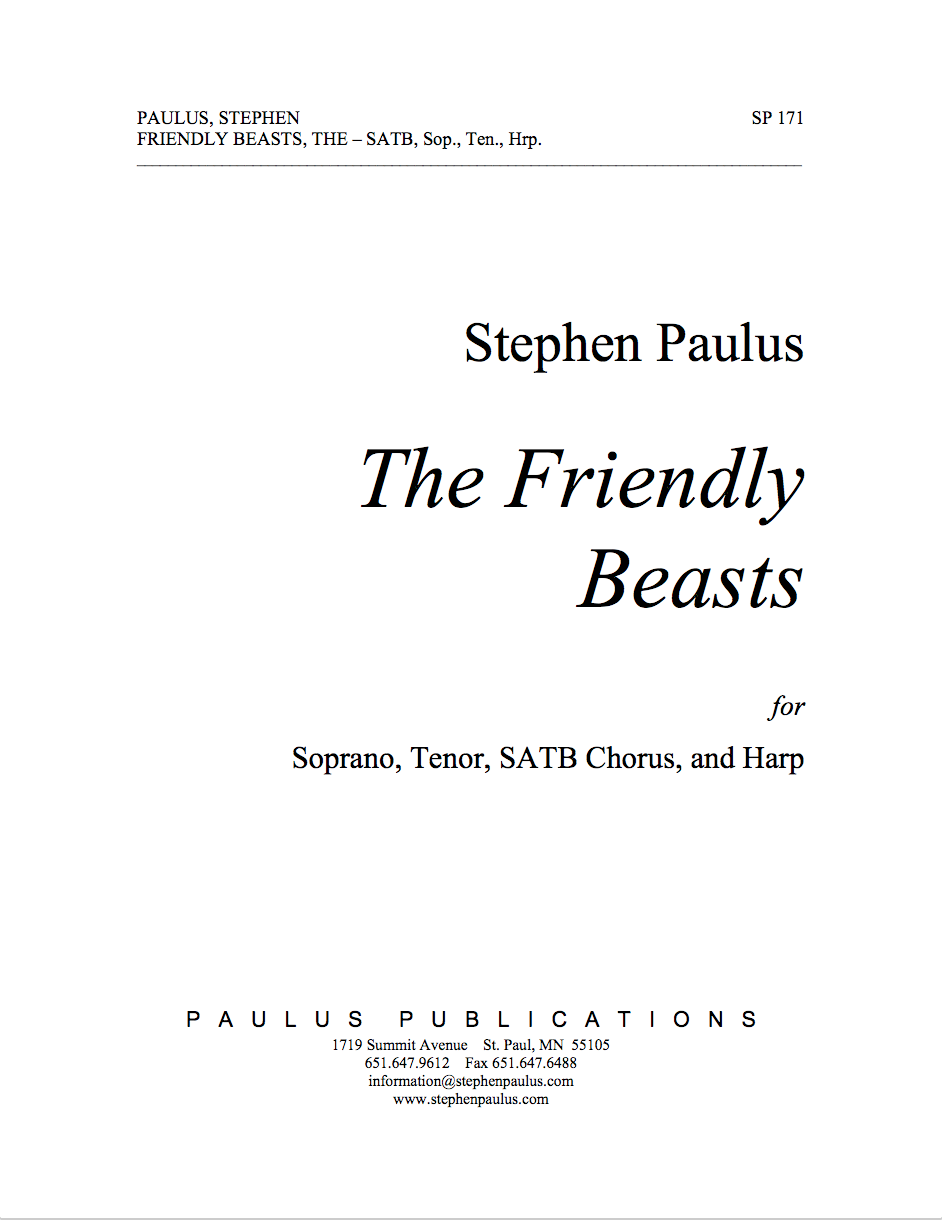 The Friendly Beasts for SSAATTBB Chorus & Harp