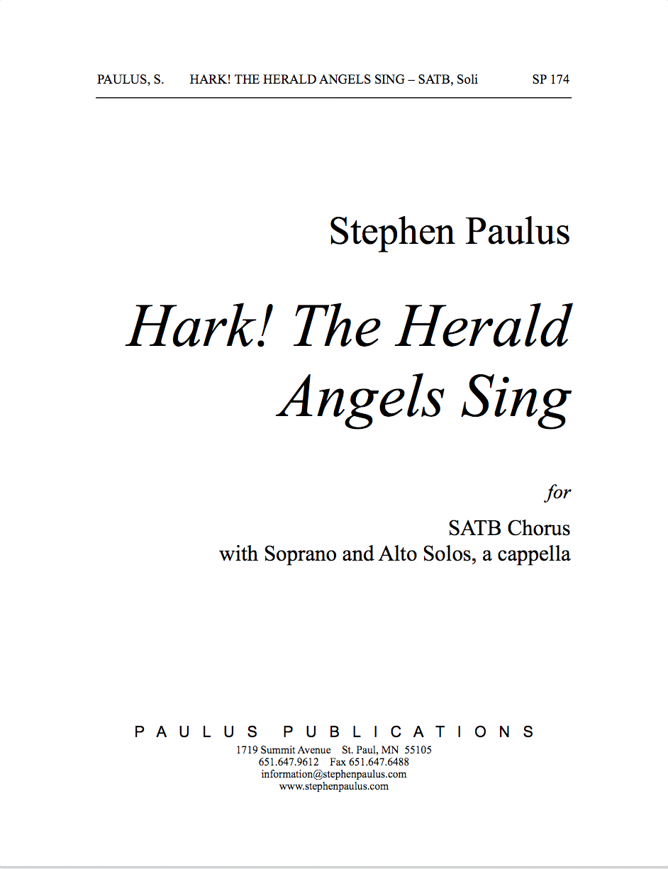 Hark! The Herald Angels Sing for SSAATTBB Chorus, a cappella - Click Image to Close