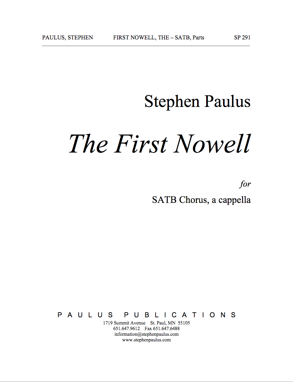 First Nowell, The for SSAATTBB Chorus, a cappella