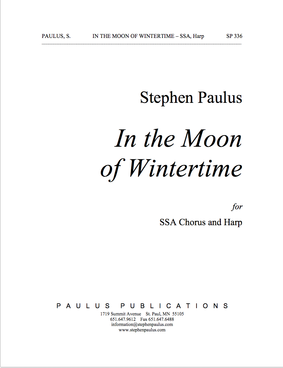 In the Moon of Wintertime for SSA Chorus & Harp