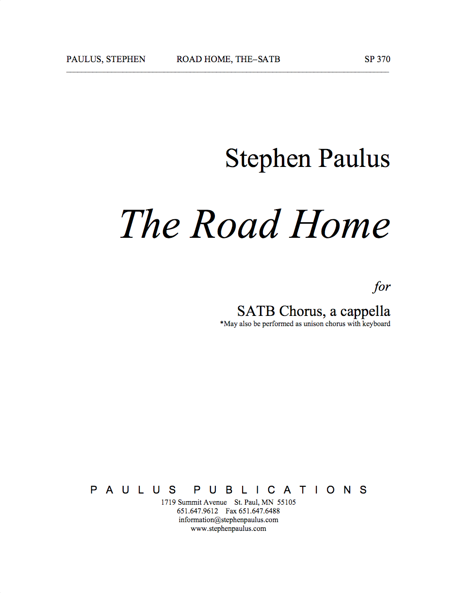 Road Home, The for SATB Chorus, a cappella - Click Image to Close