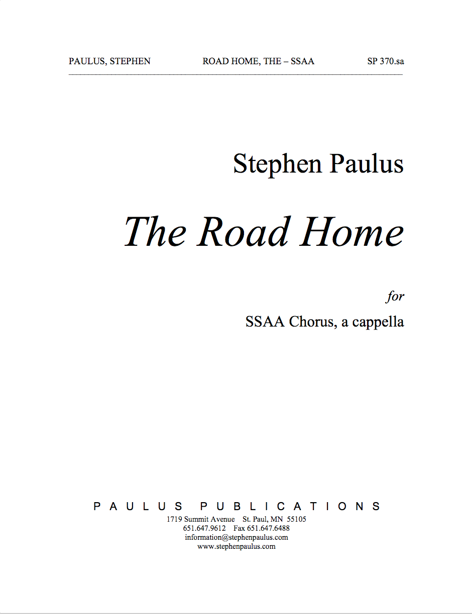 Road Home, The for SSAA Chorus, a cappella
