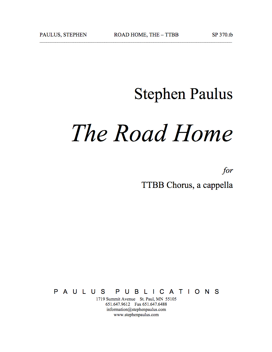 Road Home, The for TTBB Chorus, a cappella