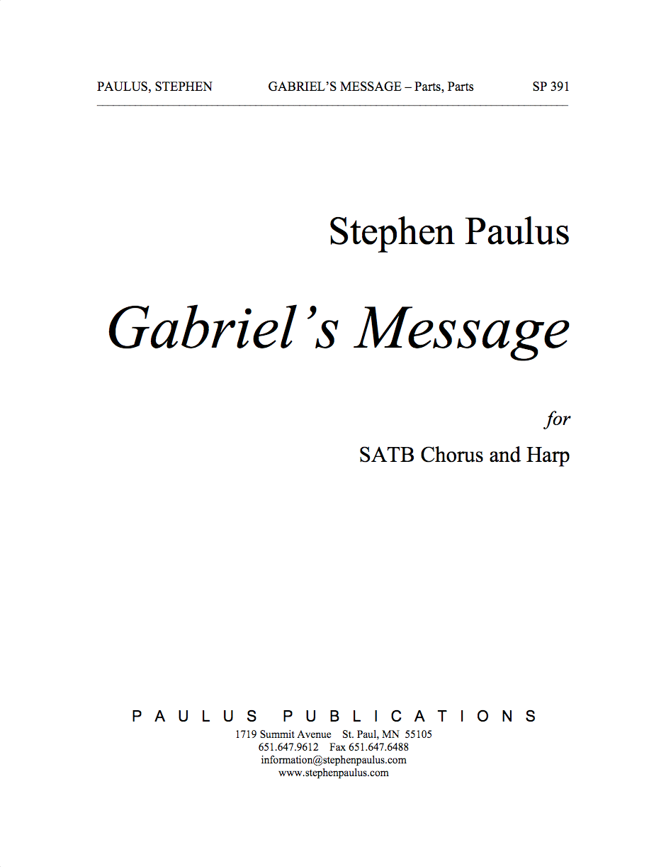 Gabriel's Message for SSAATTBB Chorus & Harp