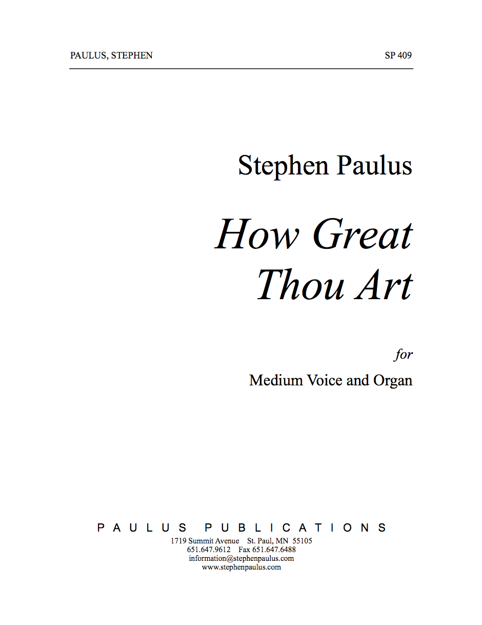 How Great Thou Art for Solo Voice & Organ
