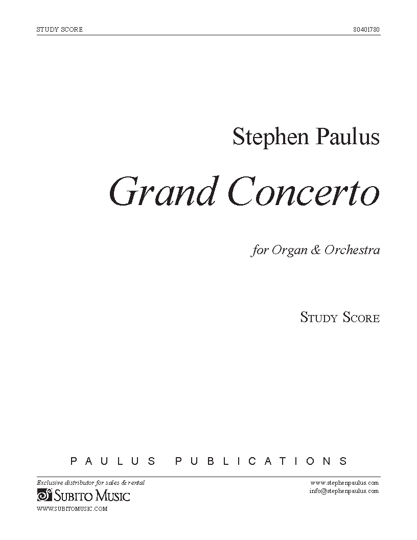 Grand Concerto for Organ & Orchestra
