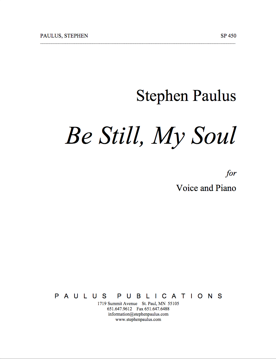 Be Still My Soul for Voice & Piano