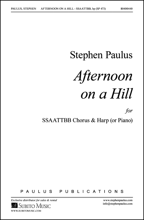 Afternoon on a Hill - Harp Part