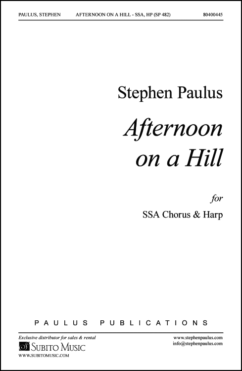 Afternoon on a Hill for SSA Chorus & Harp