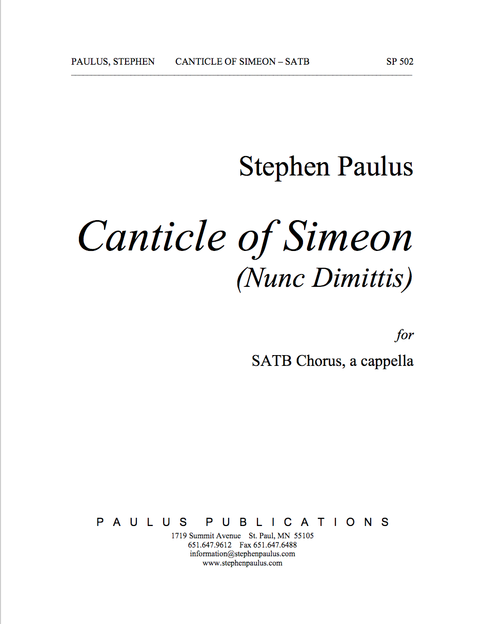 Canticle of Simeon for SATB Chorus, a cappella