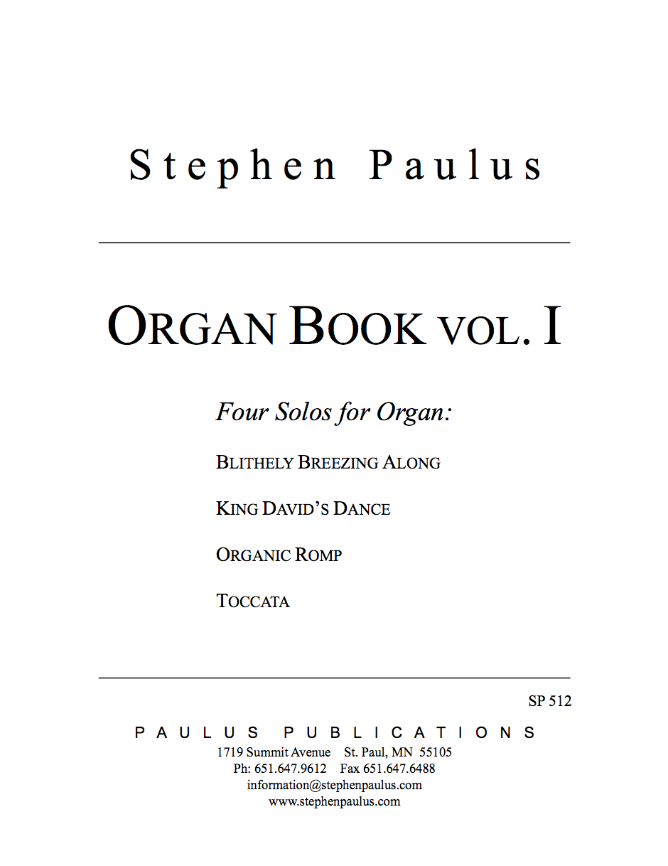 Organ Book - Vol. I Four Solos for Organ
