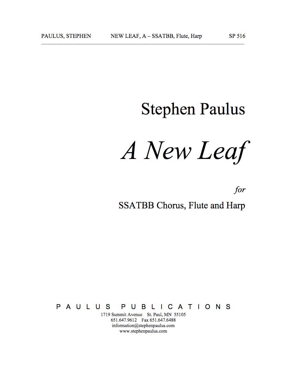 New Leaf, A for SSATBB Chorus, Flute & Harp