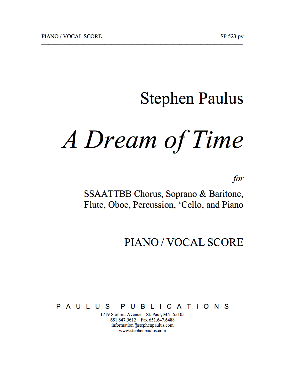 Dream of Time, A - Piano/Vocal