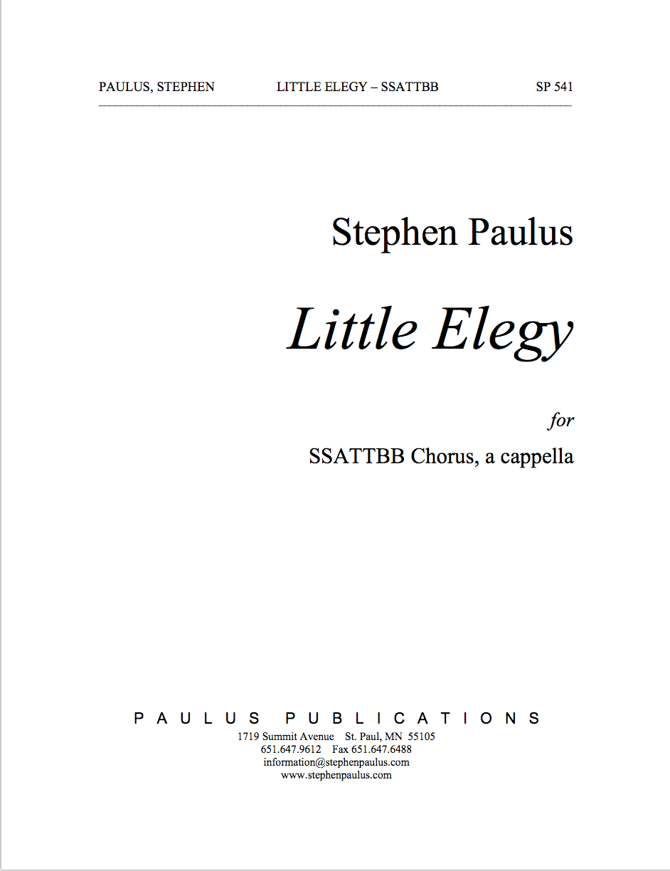 Little Elegy for SSATTBB Chorus, a cappella