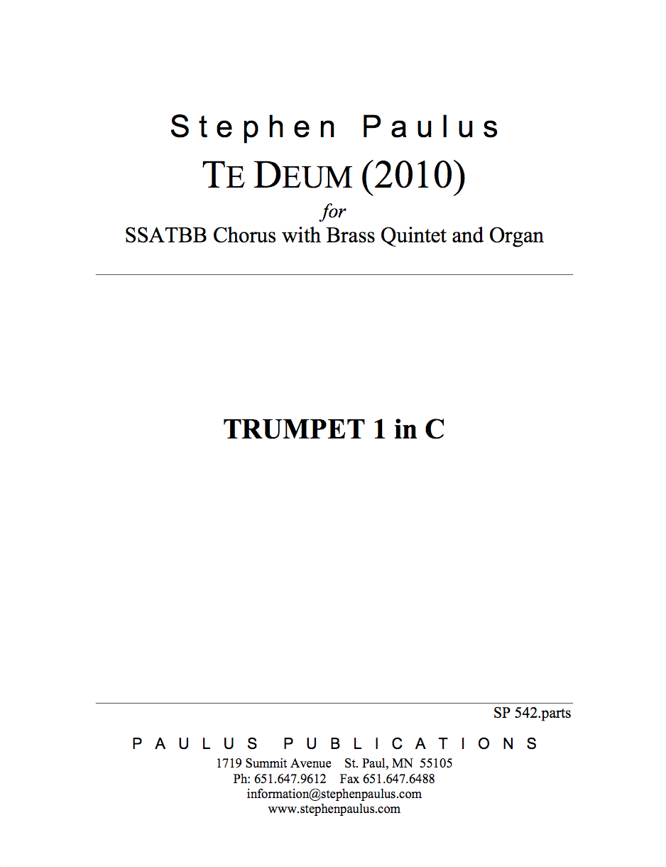 Te Deum (2010) - Brass Parts