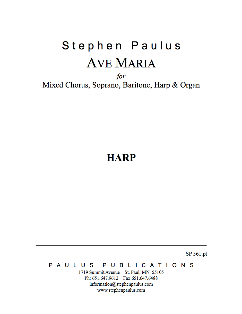Ave Maria Part Set (Harp & Organ)