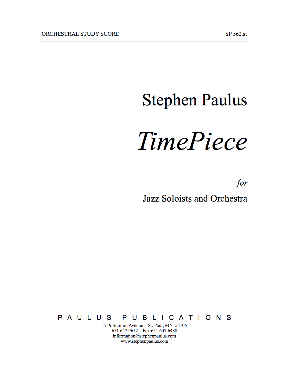 TimePiece for Jazz Soloists & Orchestra