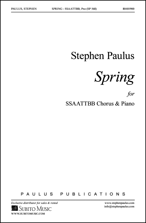 Spring for SSAATTBB Chorus & Piano
