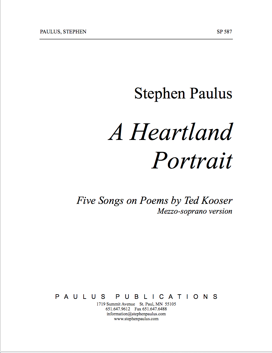 Heartland Portrait, A for Mezzo-Soprano (medium voice, treble clef) & Piano