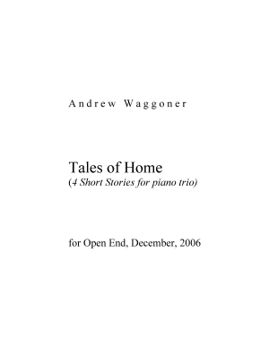 Tales of Home four short stories for piano trio