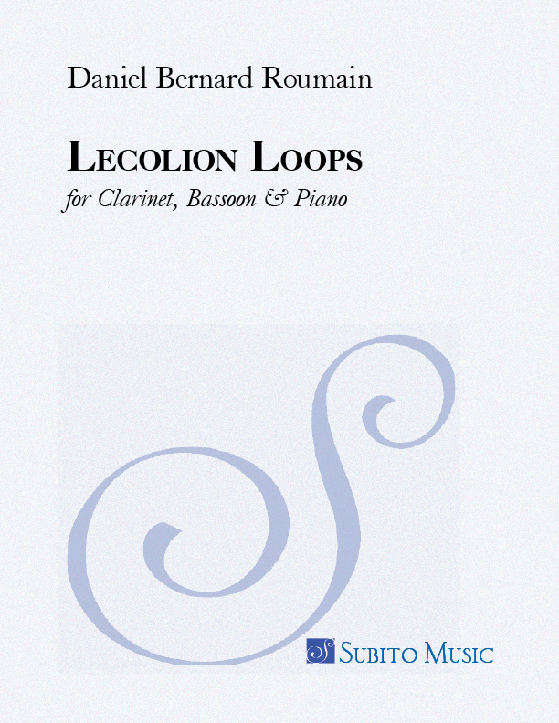 Lecolion Loops for Clarinet, Bassoon & Piano