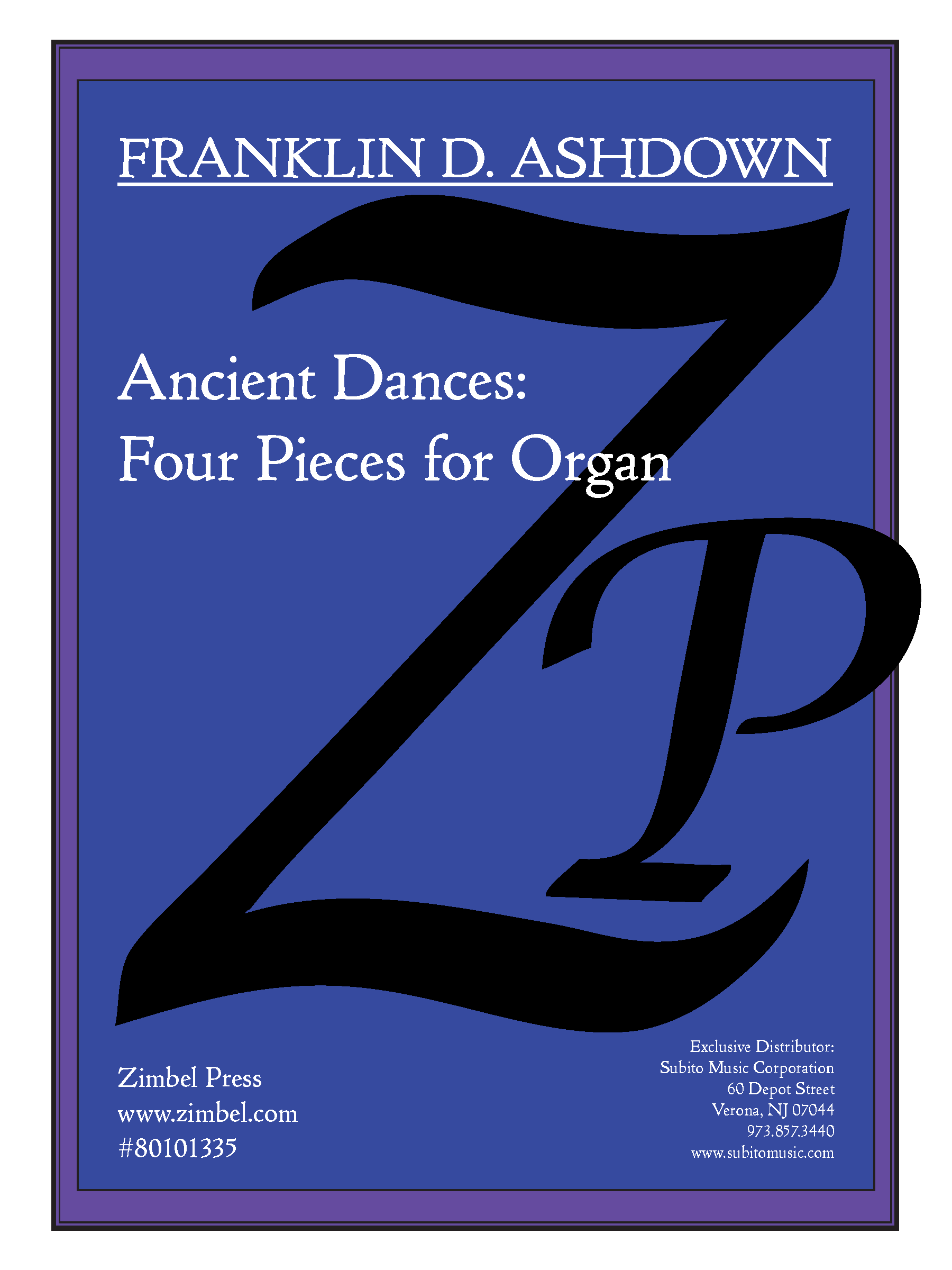 Ancient Dances for Organ - Click Image to Close