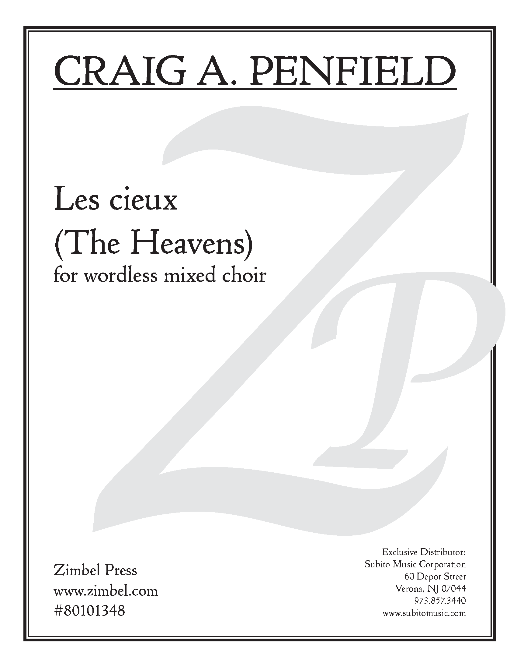 Les cieux (The Heavens) for SATB Chorus, a cappella