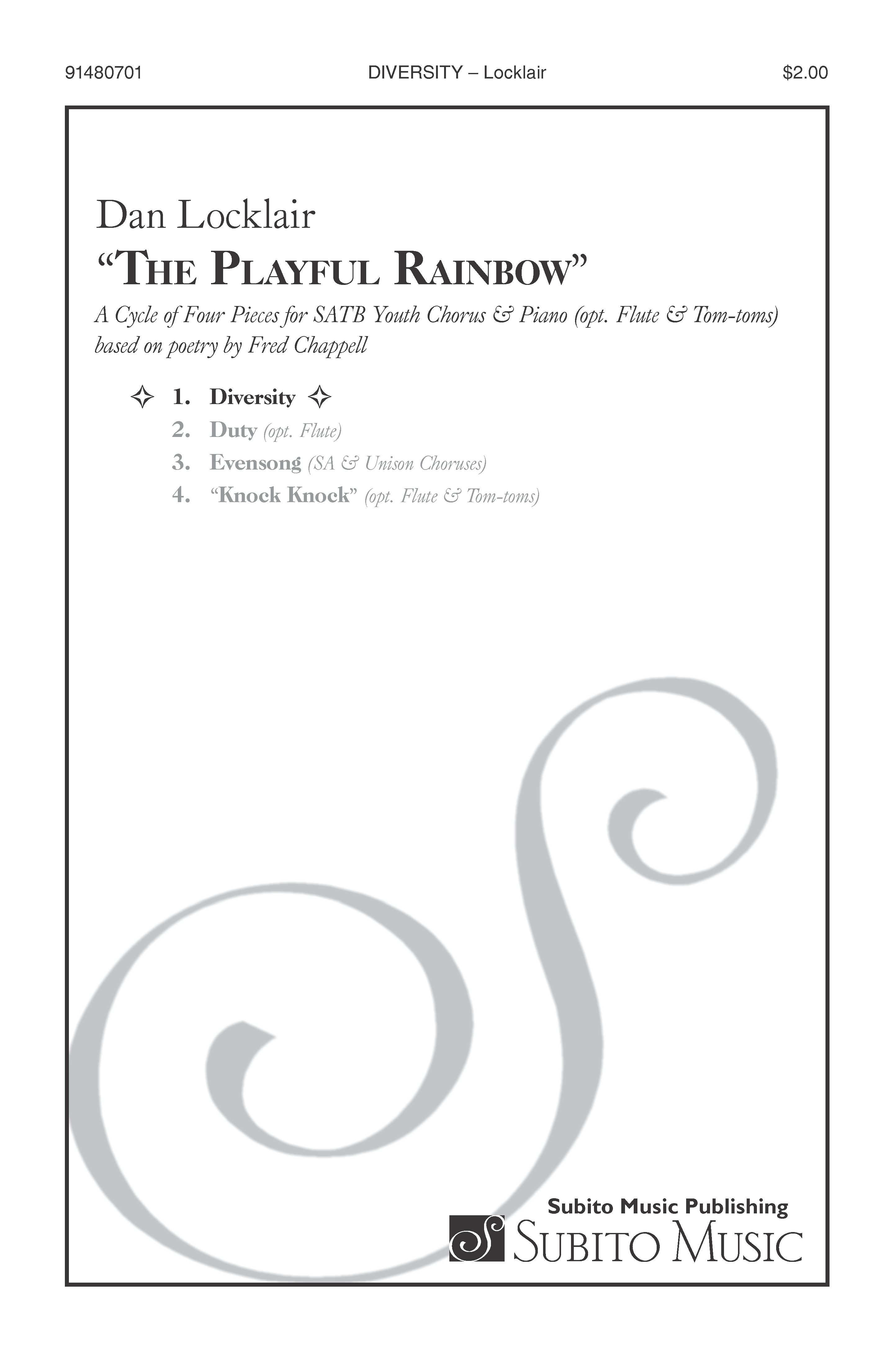 Diversity (from The Playful Rainbow) for SSA Chorus & Piano