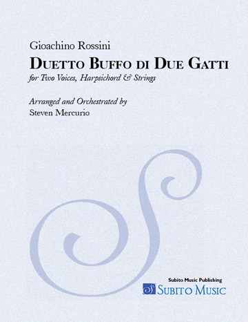Duetto Buffo di Due Gatti (Rossini) for 2 Voices; Hpschd & Strings