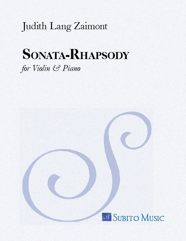 Sonata-Rhapsody for Violin & Piano