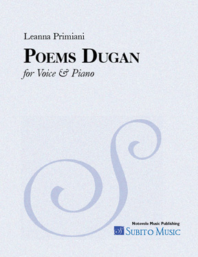 Poems Dugan for voice, pno