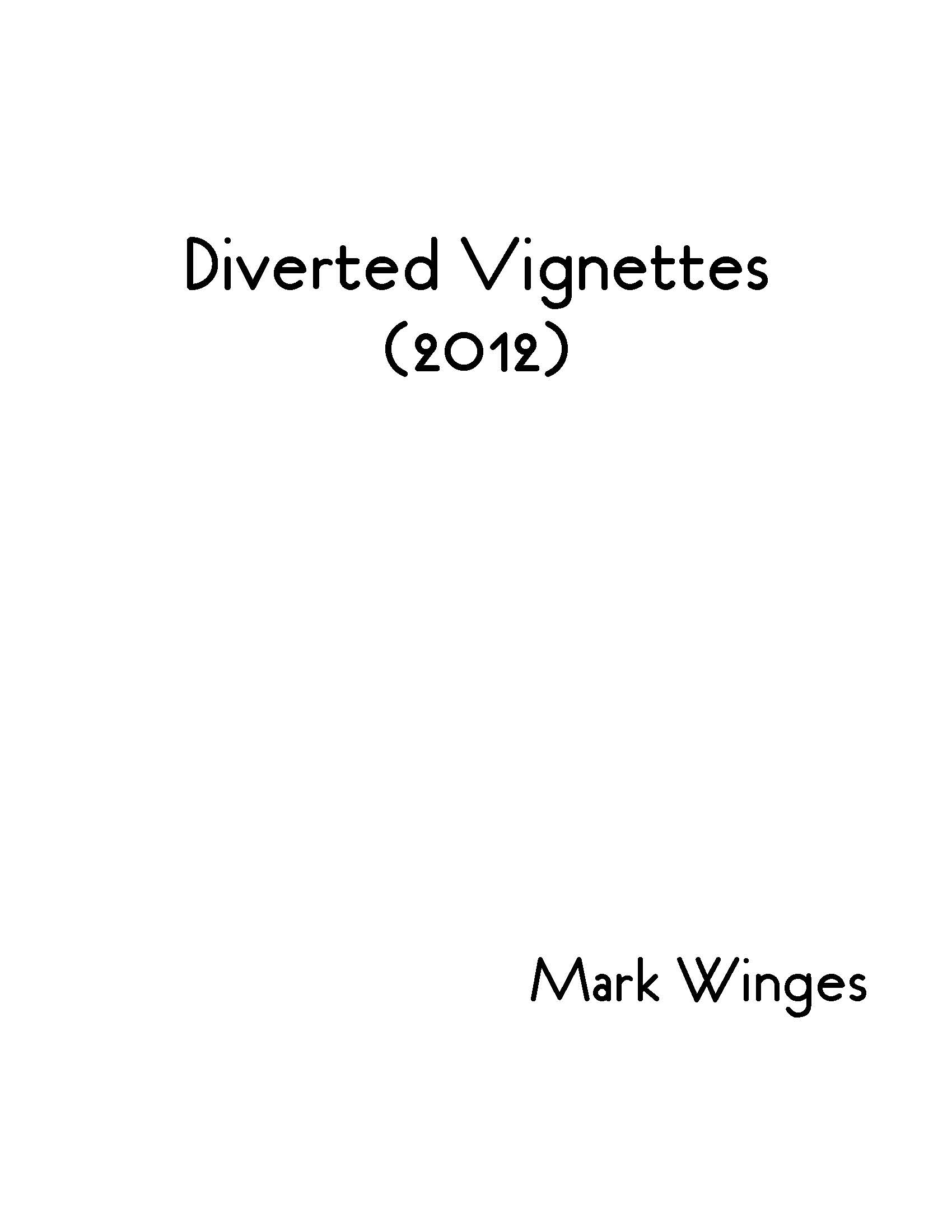 Diverted Vignettes for Solo Viola - Click Image to Close