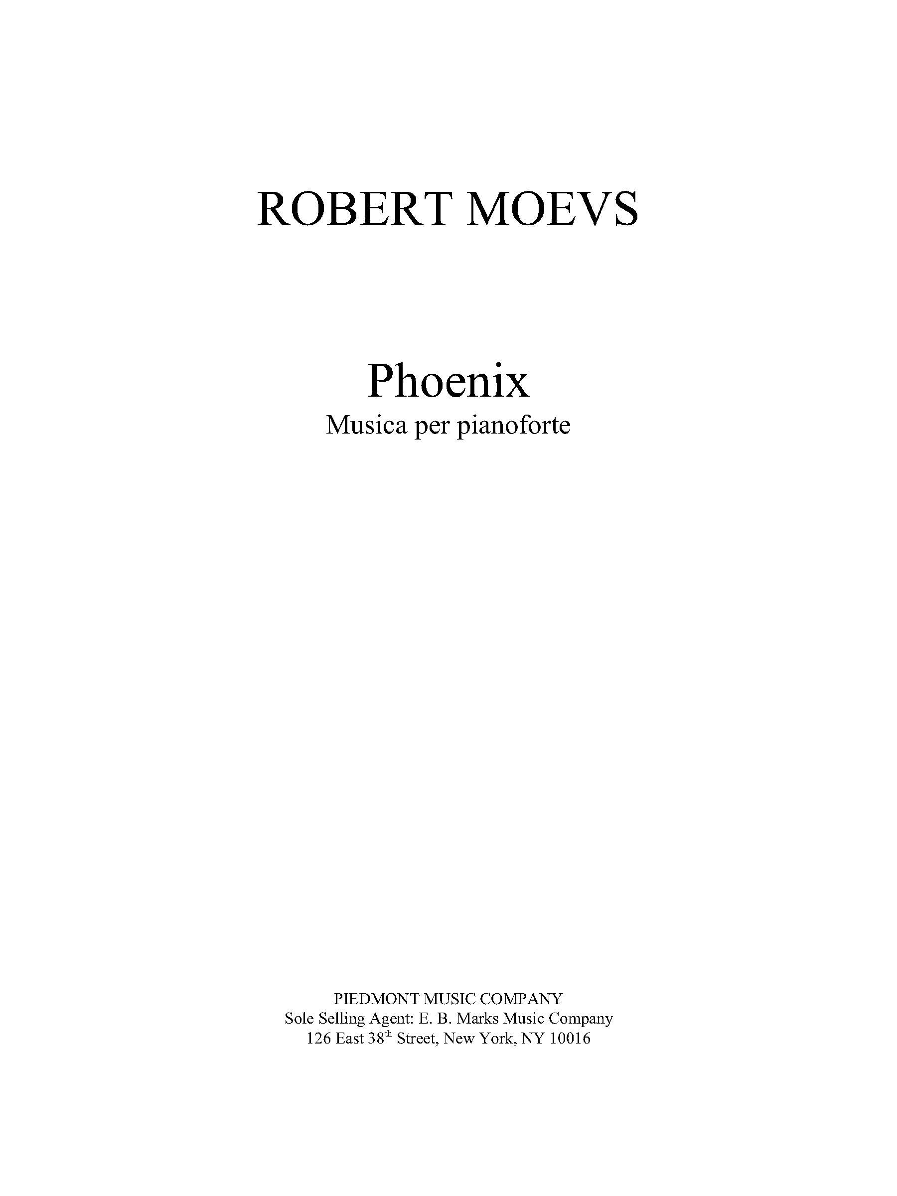 Phoenix for Piano solo