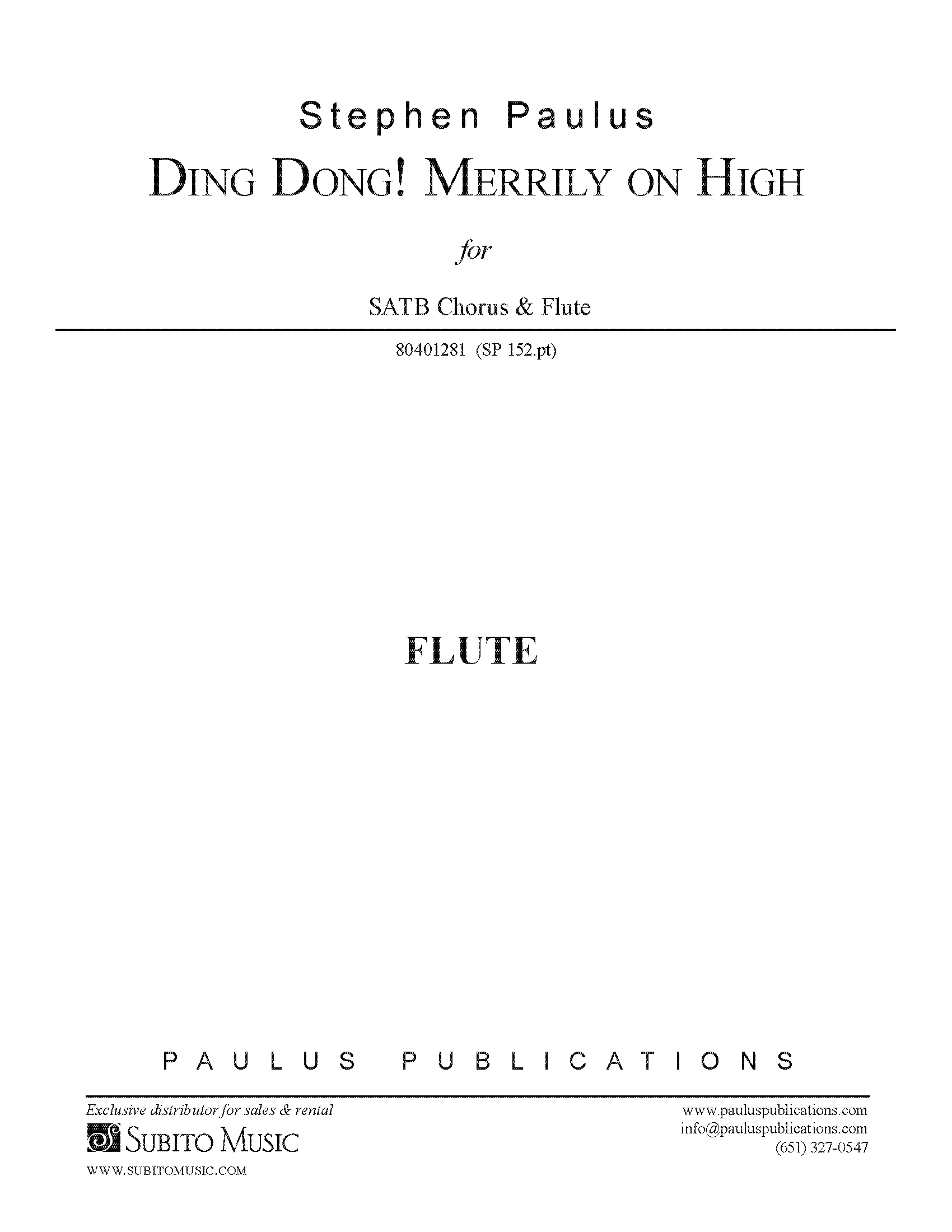Ding Dong! Merrily on High - FLUTE PART