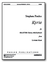 Kyrie (from Luther Mass) for SSAATTBB Chorus, with Keyboard