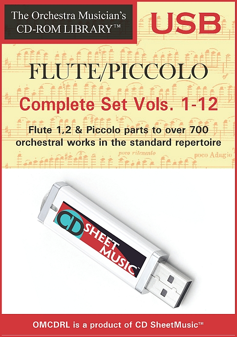 The Orchestra Musician's CD-ROM Library™, Volumes 1-12 for Flute & Piccolo (Complete Set Vols. 1-12)