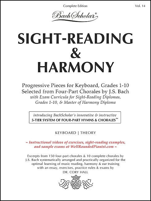 Sight-Reading & Harmony (BachScholar Edition Vol. 14) for Keyboard / Theory