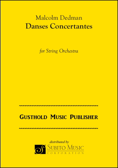 Danses Concertantes for String Orchestra