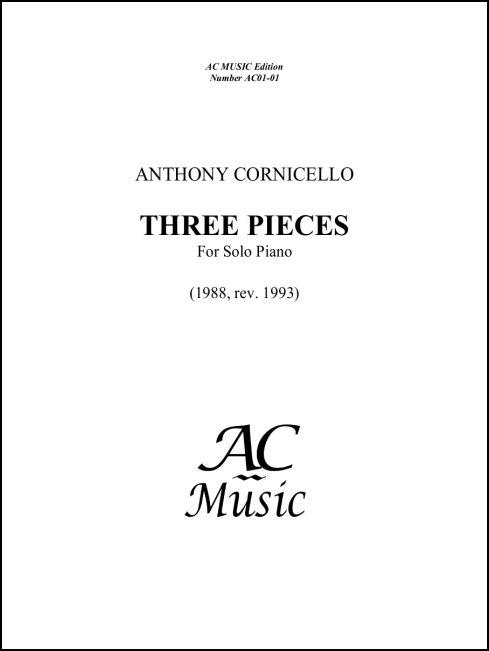 Three Pieces for Piano for Piano - Click Image to Close