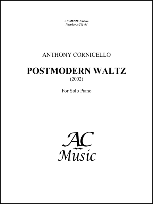 Post-Modern Waltz for Piano
