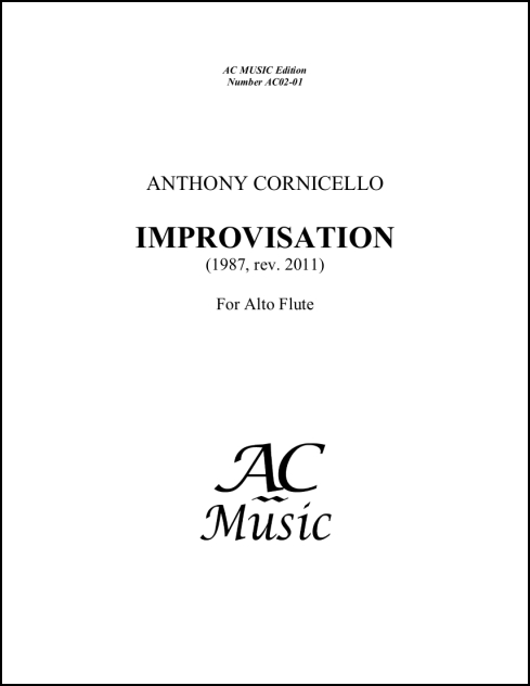 Improvisation for Alto Flute for Alto Flute - Click Image to Close