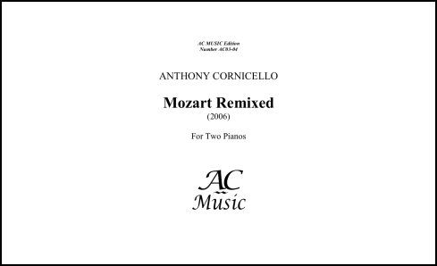 Mozart Remixed for 2 Pianos