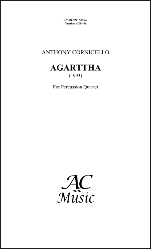Agarttha for Percussion Quartet