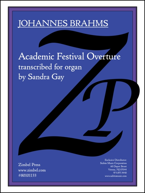 Academic Festival Overture for organ