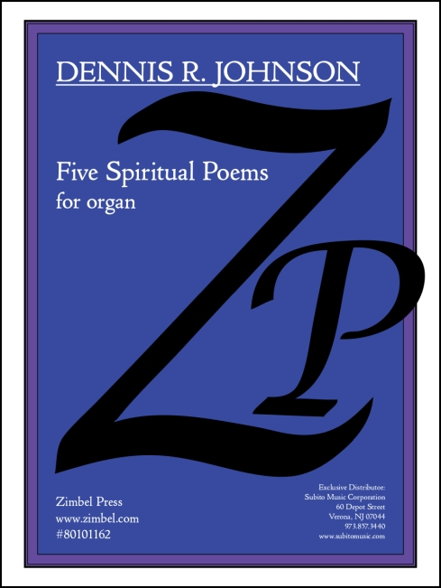 Spiritual Poems, Five for organ - Click Image to Close