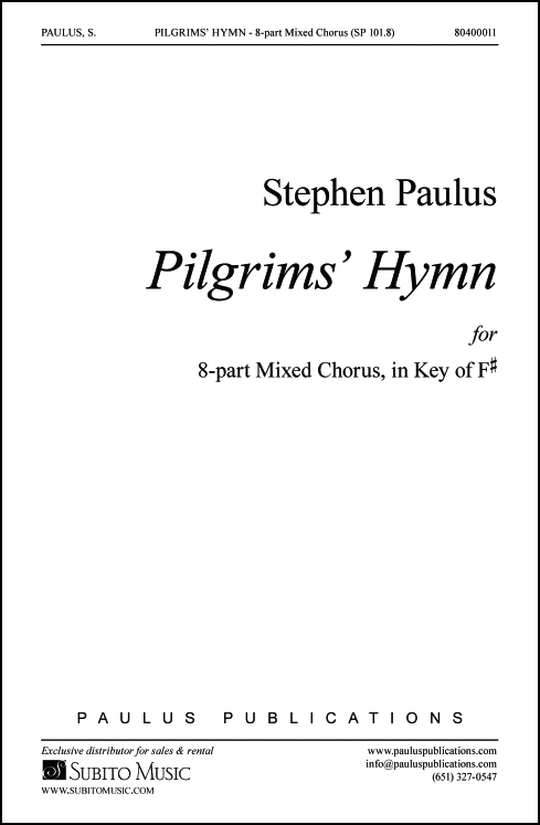 Pilgrims' Hymn (8 part version) for SSAATTBB Chorus, a cappella - Click Image to Close