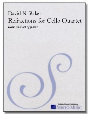 Refractions for cello quartet