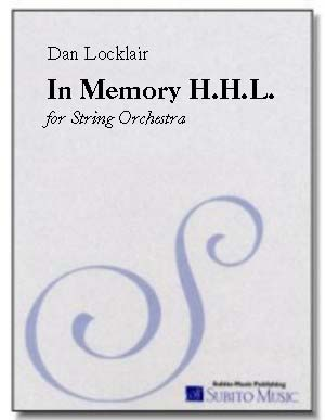 In Memory H.H.L. for string orchestra